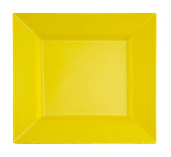 "Butternut Yellow 9.5"" Square Plastic Dinner Plates 10ct."