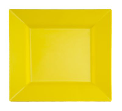 "Butternut Yellow 9.5"" Square Plastic Dinner Plates *Case of 120*"