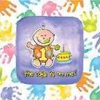 Cake's On Me Beverage Napkins 1st Birthday 16ct.