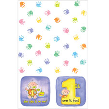 Cakes On Me 1st Birthday Plastic Table Cover