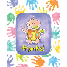 Cakes On Me 1st Birthday Thank You Cards 8ct.
