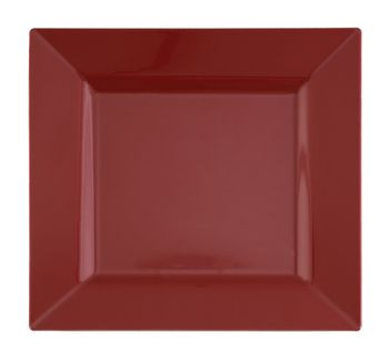 """Candy Apple Red 6.5"""" Square Plastic Dessert Plates *Case of 120*"""