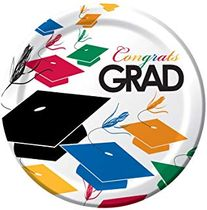 "Cap Toss Graduation 9"" Paper Dinner Plates 8ct."
