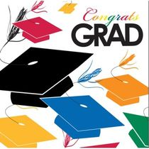 Cap Toss Graduation Beverage Napkins 18ct.