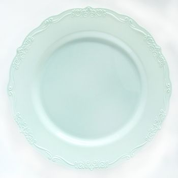 """Casual Collection 7"""" Blue Plastic Salad Disposable Plates 10ct."""