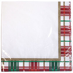 Christmas Plaid Luncheon Napkins 40ct.