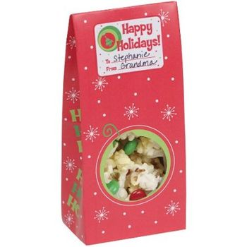 Christmas Print Treat Box w/Window, 6ct.