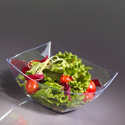 Clear 16oz. Square Plastic Serving Bowls 4ct.