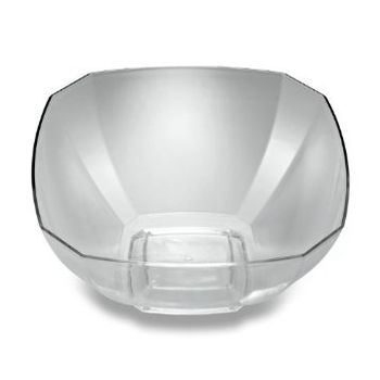 "Clear Plastic 12qt. Square Punch Bowl 15"" x 15"" x 13"""