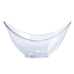 Clear Plastic Mini Oval Bowl 12ct.
