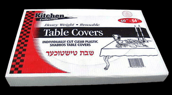 "Clear Plastic Tablecovers 66"" X 120"""