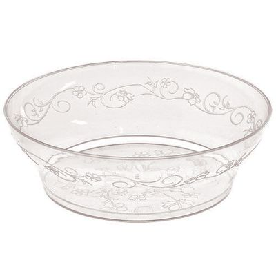 D'Vine 10oz. Clear Plastic Scroll Bowls 20ct.