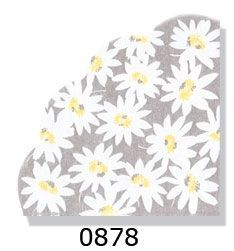 Daisies Grey Rice Paper Napkins 15ct.