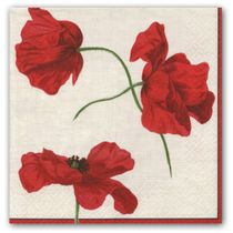 Dancing Poppies Floral Luncheon Napkins 20ct.