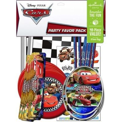 Disney Cars Dream Party Birthday Favor Value Pack, 48 pieces
