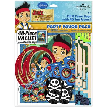 Disney Jake and the Never Land Pirates Birthday Party Favor Pack, 48 pieces