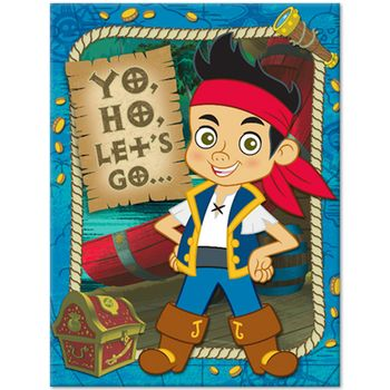 Disney Jake and the Never Land Pirates Birthday Party Invitations, 8ct.
