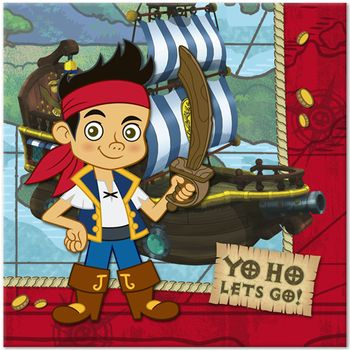 Disney Jake and the Never Land Pirates Birthday Party Lunch Napkins, 16ct.
