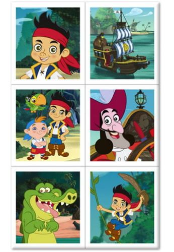 Disney Jake and the Never Land Pirates Birthday Party Stickers, 24 stickers