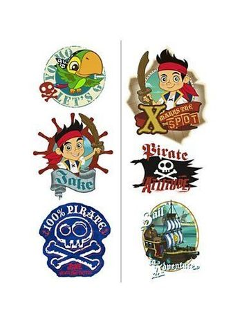 Disney Jake and the Never Land Pirates Birthday Party Tattoos, 12 count
