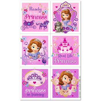 Disney Princess Sophia the First Birthday Party Stickers, 24 stickers