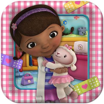 "Doc McStuffins Birthday 9"" Square Dinner Plates, 8ct."