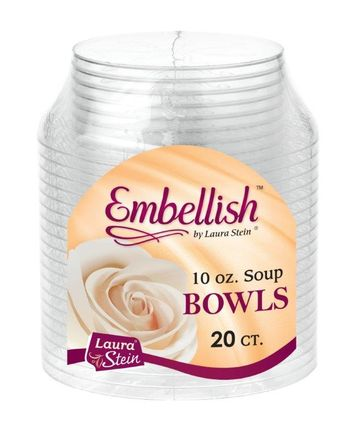 Embellish 10oz. Scroll Plastic Bowls 20ct.