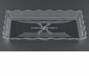 "Embellish 9"" x 13"" Clear Plastic Serving Tray"