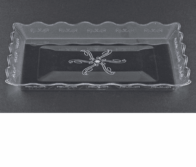 """Embellish 9"""" x 13"""" Clear Plastic Serving Tray"""