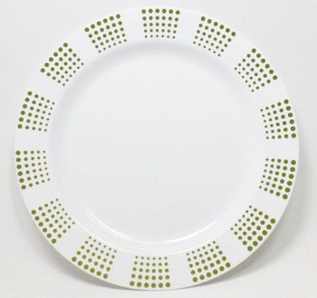 "Empress 7"" White w/ Gold Dot Border Salad Plastic Plates *Case of 120*"