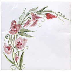 Everyday Red Floral Paper Luncheon Napkins 2-Ply 40 ct.