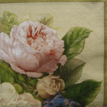 Fairy Rose Floral Lunch Napkins 16ct.