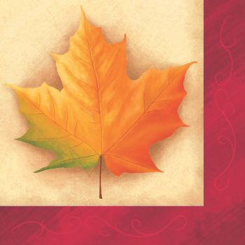 Fall Breeze Thanksgiving Lunch Napkins 16ct.