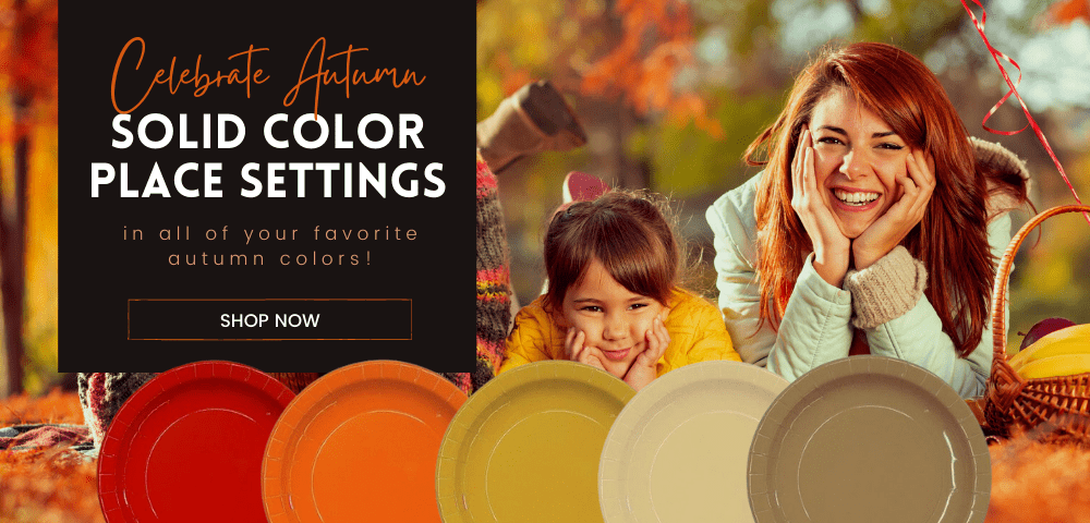 Celebrate Autumn with Solid Color Place Settings
