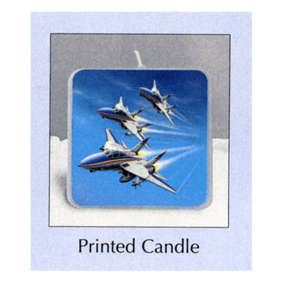 Fighter Pilot Birthday Printed Candle