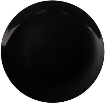 "Flora Design Black 10.25"" Plastic Dinner Plates, 10ct."