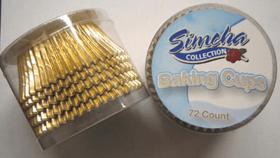 GOLD FOIL BAKING CUPS 72CT