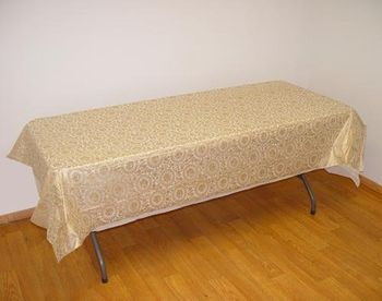Gold Lace Rectangular Plastic Tablecloths