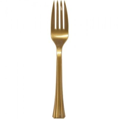 Gold Plastic Forks Heavy Duty Cutlery 51ct.