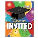 Grad Ballloons Graduation Invites 8ct.