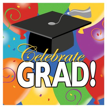 Grad Balloons Graduation Lunch Napkins 18ct.