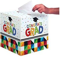 Graduation Party Card Holder Box, Fractal Fun