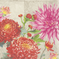 Heather Flowered Paper Lunch Napkins: 20 Napkins per Pack