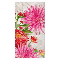 Heather Flowered Pattern Guest Towels: 16 Guest Towels per Pack
