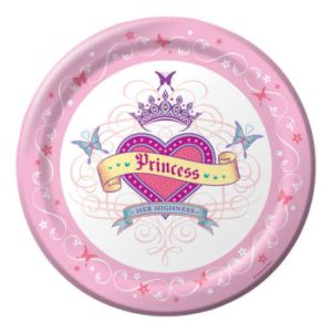 "Her Highness Princess Happy Birthday 9"" Paper Plates 8ct."