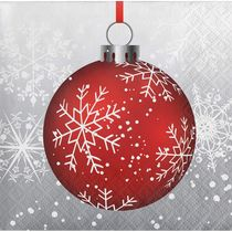 Holiday Ornaments Christmas Paper Beverage Napkins, 16 count