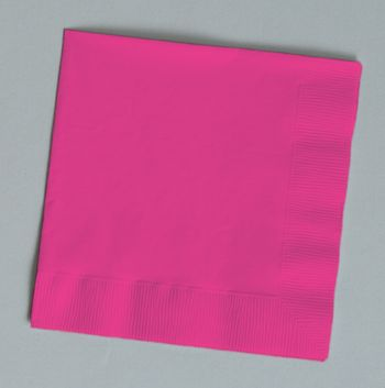 Hot Magenta Luncheon Napkins 50ct.