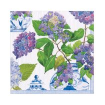 Hydrangeas and Porcelain Floral Paper Luncheon Napkins 20ct.