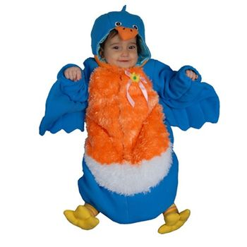 Infant Bluebird Bunting Halloween Costume, Size 0-12 months