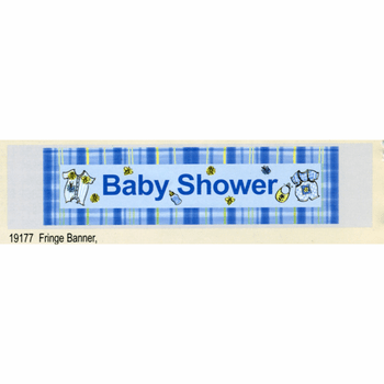 Its A Boy Baby Shower Fringe Banner